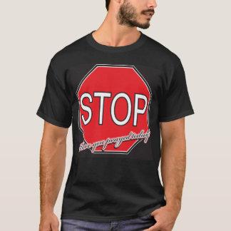 Black Shirt Stop Sign