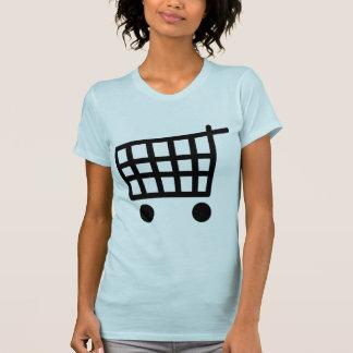 black shopping trolley T-Shirt