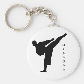 Black Silhouette Karate Keychain