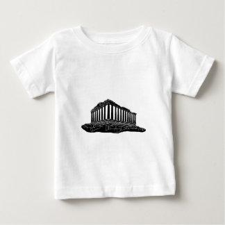 Black silhouette of Parthenon Baby T-Shirt