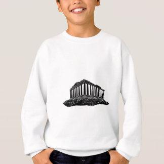 Black silhouette of Parthenon Sweatshirt