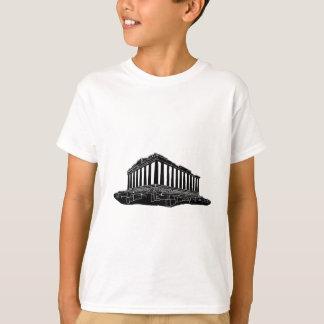 Black silhouette of Parthenon T-Shirt