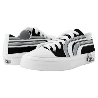 Black Silver and White Sojourn Max Low-Top Sneakers