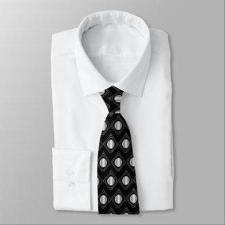 Black & Silver Boxed In Tie