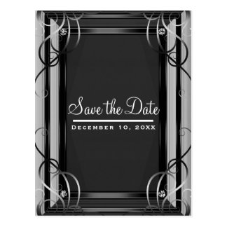 Black & Silver Company Corporate Save the Date Postcard