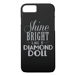 Black/Silver Glitter Phone Case