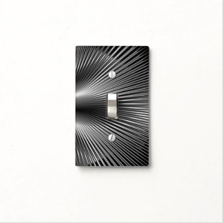 Black & Silver Graphic Light Switch Cover
