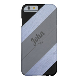 Black Silver Gray Personalized For Him Barely There iPhone 6 Case