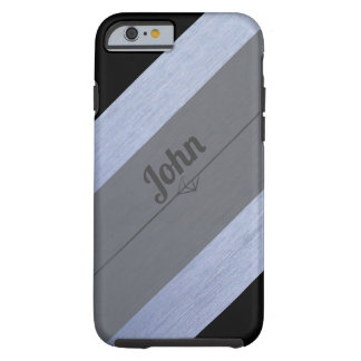 Black Silver Gray Personalized For Him Tough iPhone 6 Case