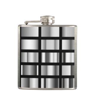 Black Silver Metallic Collage Flasks