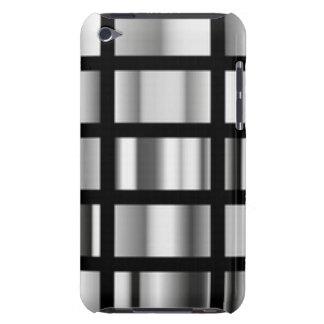 Black Silver Metallic Collage iPod Case-Mate Case