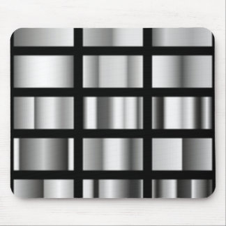 Black Silver Metallic Collage Mouse Pad