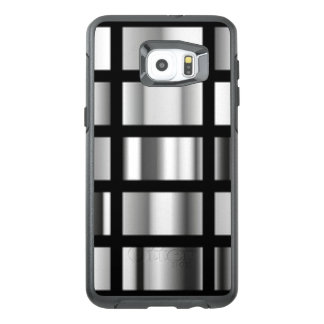 Black Silver Metallic Collage OtterBox Samsung Galaxy S6 Edge Plus Case