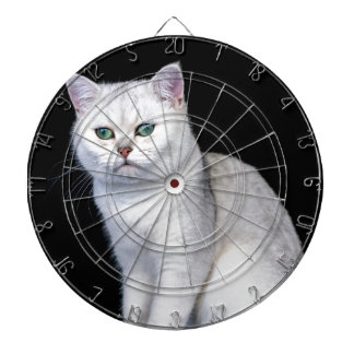 Black silver shaded British short hair cat Dartboard