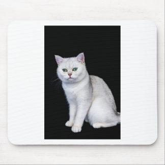 Black silver shaded British short hair cat Mouse Pad