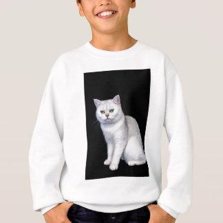 Black silver shaded British short hair cat Sweatshirt