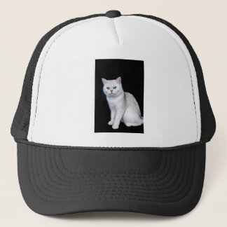 Black silver shaded British short hair cat Trucker Hat