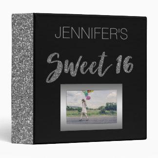 Black Silver Sweet Sixteen Vinyl Binders