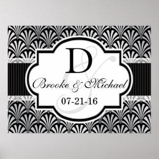 Black & Silver Vintage Art Deco Wedding Poster