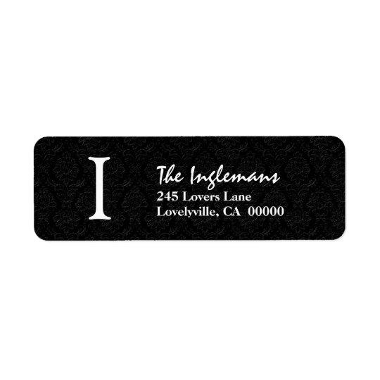 Black Simple Monogram I or Any Initial Y149