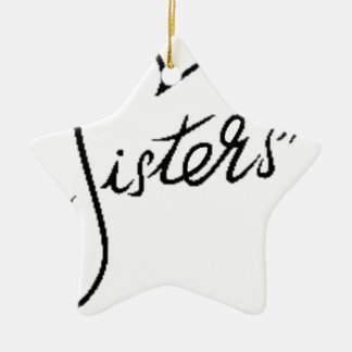 black sisters ceramic ornament