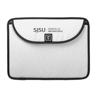 Black SJSU iSchool logo Sleeve For MacBook Pro