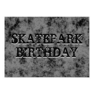 "Black Skatepark Teen Boy Birthday Party 5"" X 7"" Invitation Card"