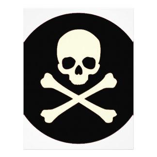 black skull and bones letterhead