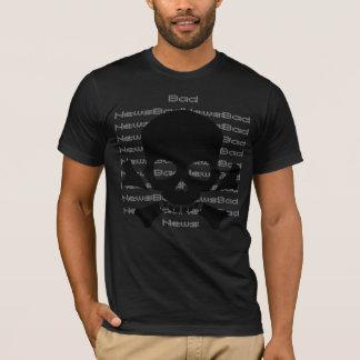 Black Skull and Cross Bones Bad News T-shirt