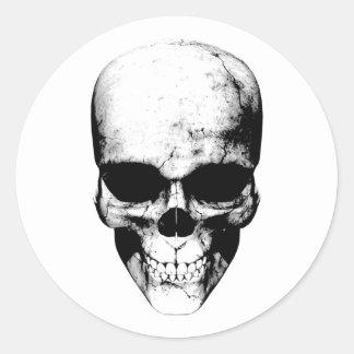 Black Skull Classic Round Sticker