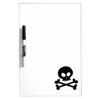 Black skull dry erase board