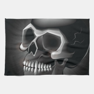 Black skull kitchen towels