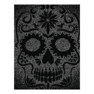 Black Skull Letterhead Design