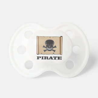 black skull pirate baby pacifier