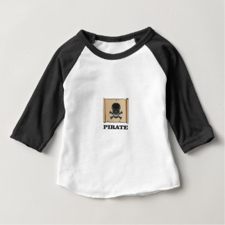 black skull pirate baby T-Shirt