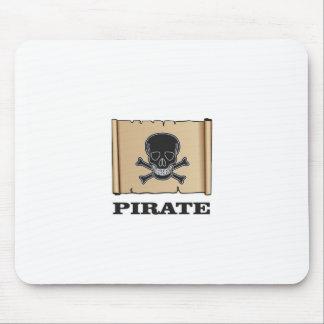 black skull pirate mouse pad