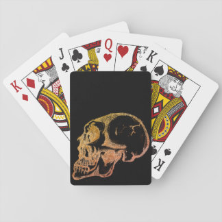 Black Skull Playing Cards