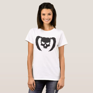 Black skull with pigtails T-Shirt