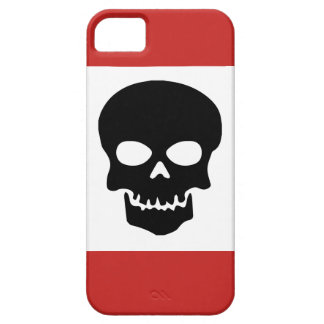 Black Skull with Red Case For The iPhone 5