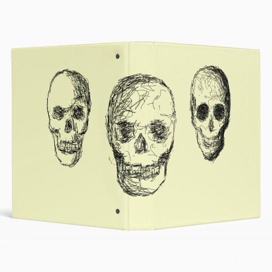 Black Skulls. 3 Ring Binder