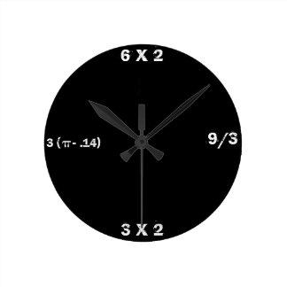 Black Slate Math Clock