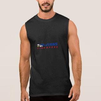 Black Sleeveless Hunk Sleeveless Shirt