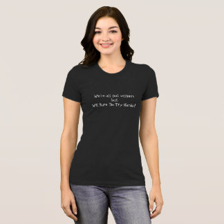 BLACK SLINKY T-SHIRT A MUST-HAVE TO GO PARTYING