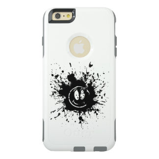 black smile face spot art OtterBox iPhone 6/6s plus case