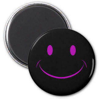 Black Smiley Face Magnet