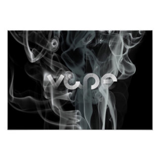 Black Smoke Vape Premium Poster