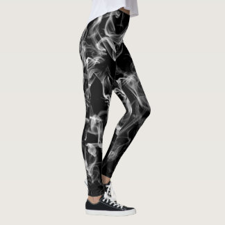 black smoked out womens leggings