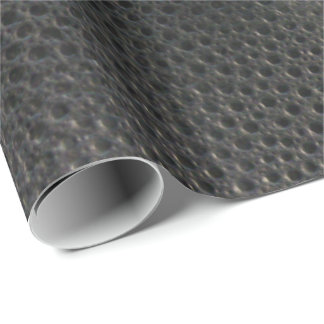 Black Snake Skin Look-Like Leather Wrapping Paper