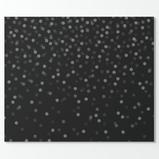 Black Snow Wrapping Paper