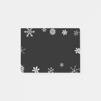 Black Snowflake Post-it Notes